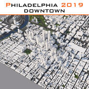 フィラデルフィアダウンタウン2019 3d model