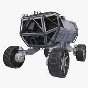 Vehículo de exploración de ciencia ficción Rover modelo 3d