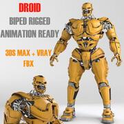 Концепция дроидов 3d model