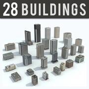 Gebäude Stadt - 28 Modellsammlung 3d model