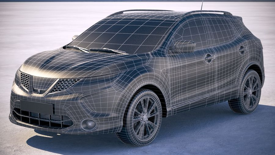 Nissan Rogue Sport 2018 royalty-free 3d model - Preview no. 20
