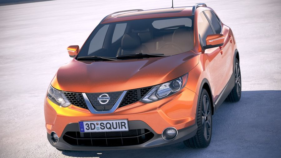 Nissan Rogue Sport 2018 royalty-free 3d model - Preview no. 2