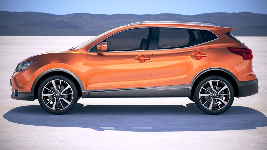 Nissan Rogue Sport 2018 royalty-free 3d model - Preview no. 7