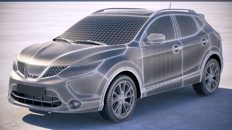 Nissan Rogue Sport 2018 royalty-free 3d model - Preview no. 18