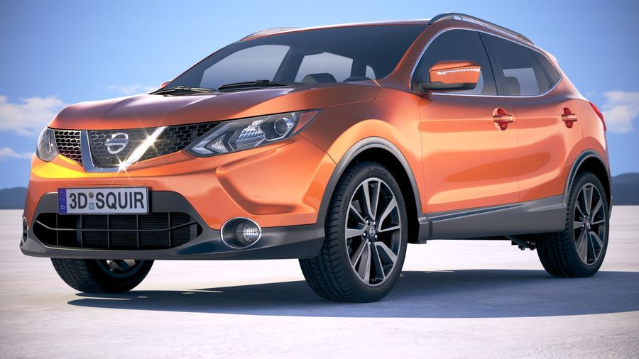 Nissan Rogue Sport 2018 royalty-free 3d model - Preview no. 13