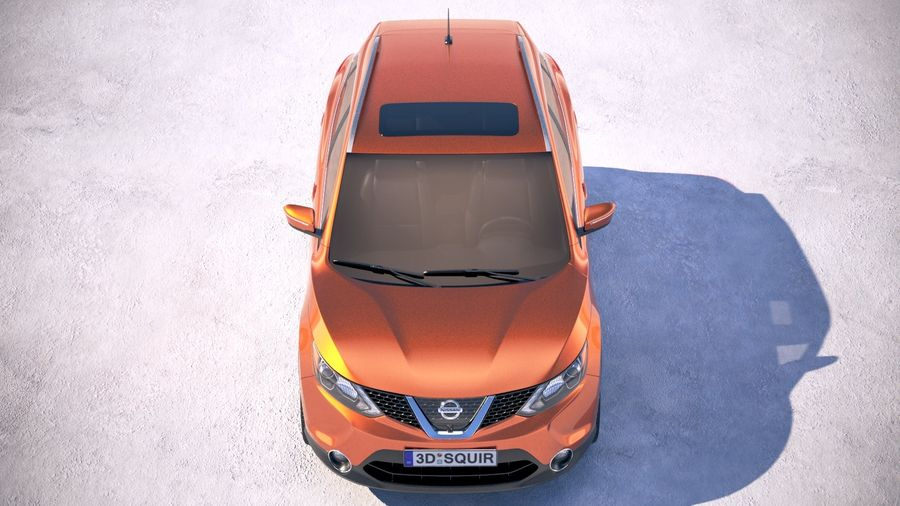 Nissan Rogue Sport 2018 royalty-free 3d model - Preview no. 9