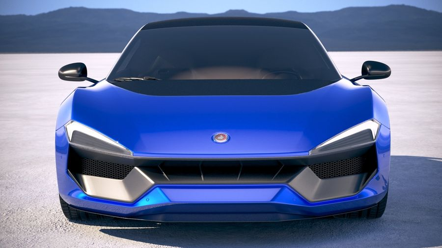 Generic Supercar 2018 royalty-free 3d model - Preview no. 10