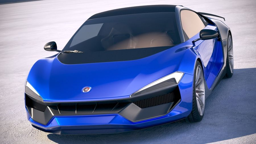 Generic Supercar 2018 royalty-free 3d model - Preview no. 2