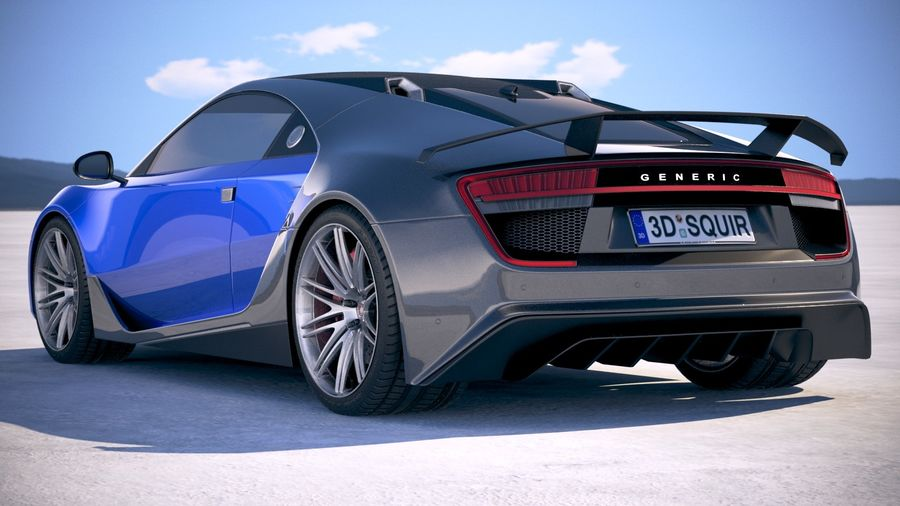 Generic Supercar 2018 royalty-free 3d model - Preview no. 14