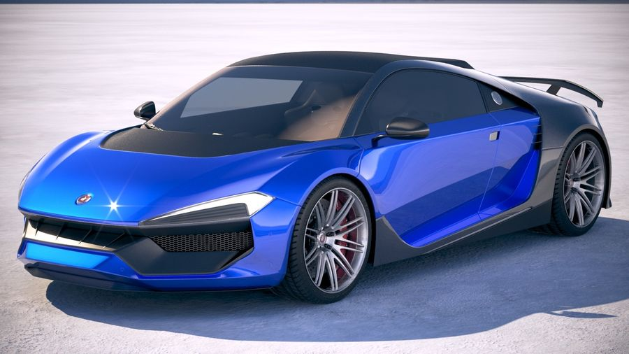 Generic Supercar 2018 royalty-free 3d model - Preview no. 1