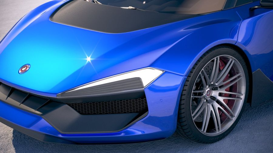 Generic Supercar 2018 royalty-free 3d model - Preview no. 3