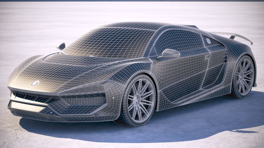 Generic Supercar 2018 royalty-free 3d model - Preview no. 18