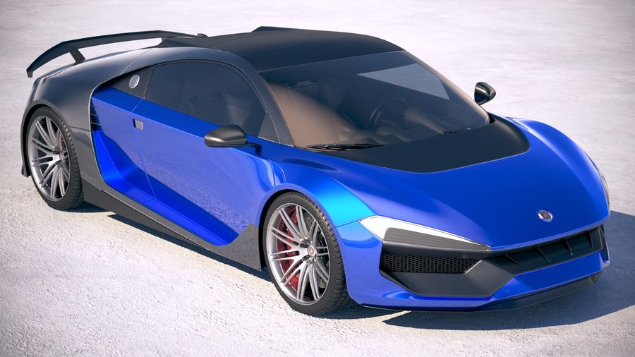 Generic Supercar 2018 royalty-free 3d model - Preview no. 12