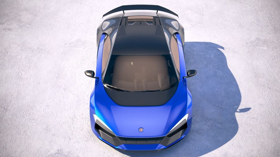 Generic Supercar 2018 royalty-free 3d model - Preview no. 9