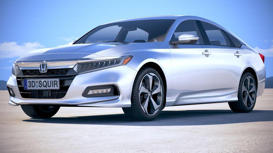 Honda Accord 2018 royalty-free 3d model - Preview no. 13