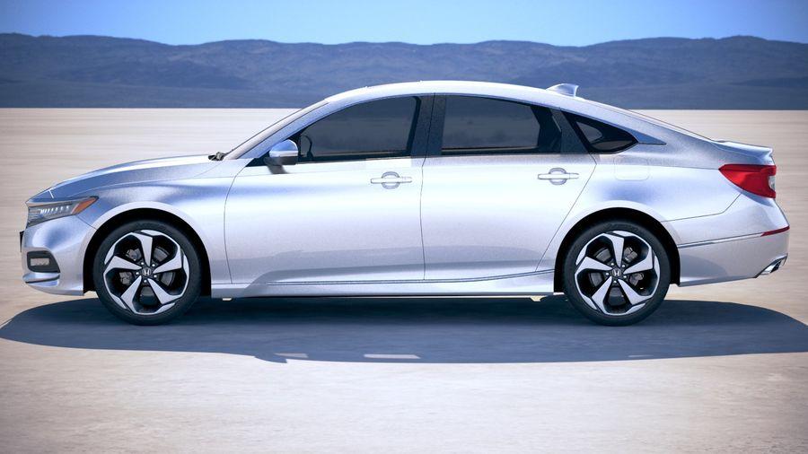 Honda Accord 2018 royalty-free 3d model - Preview no. 7