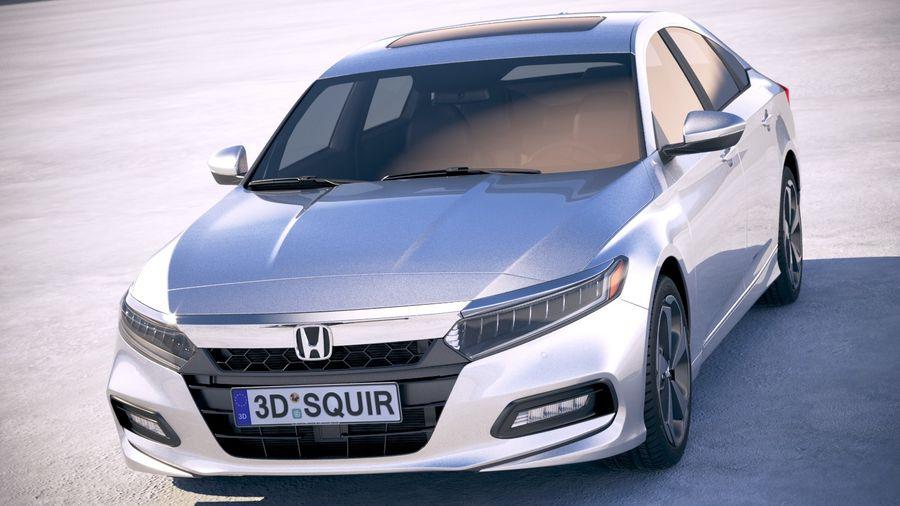 Honda Accord 2018 royalty-free 3d model - Preview no. 2