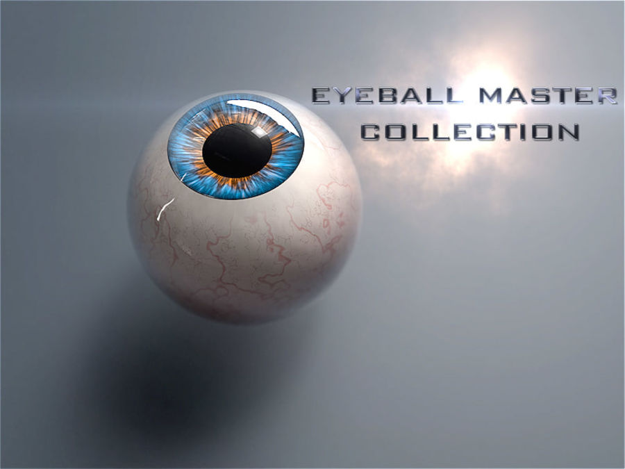 Realist Human Eye - With Rig royalty-free 3d model - Preview no. 12