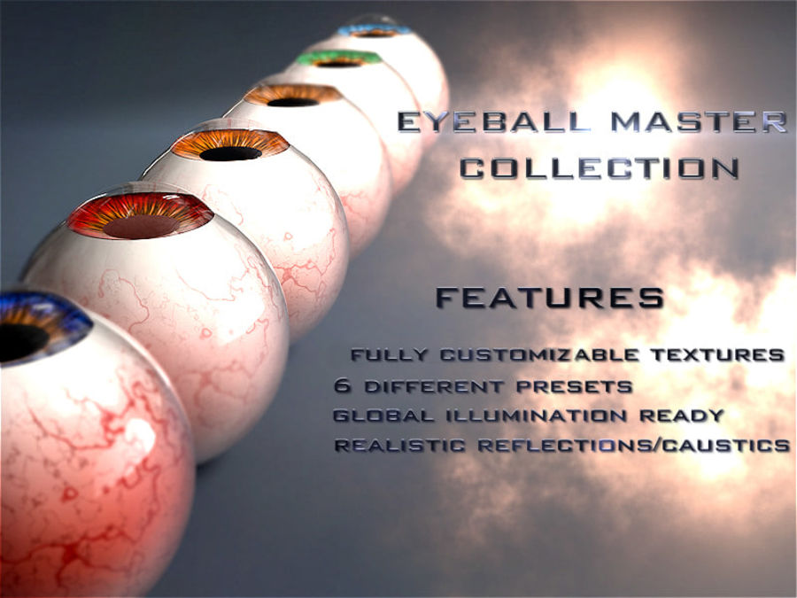 Realist Human Eye - With Rig royalty-free 3d model - Preview no. 16