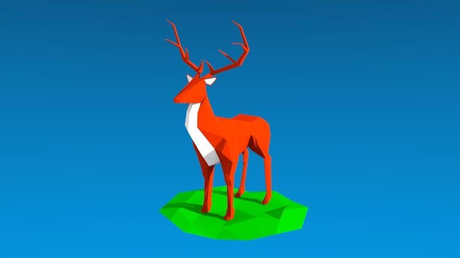 Low poly Deer 3D Model $3 -  unknown  3ds  obj  blend - Free3D