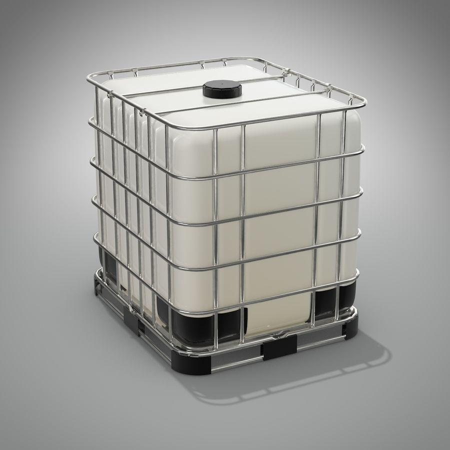 Tanque de armazenamento de água royalty-free 3d model - Preview no. 3