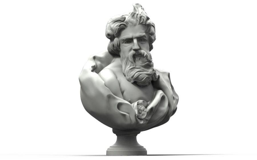 Зевс Отриколи royalty-free 3d model - Preview no. 2