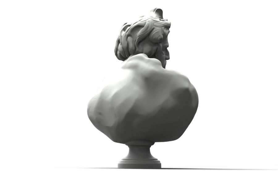 Зевс Отриколи royalty-free 3d model - Preview no. 3