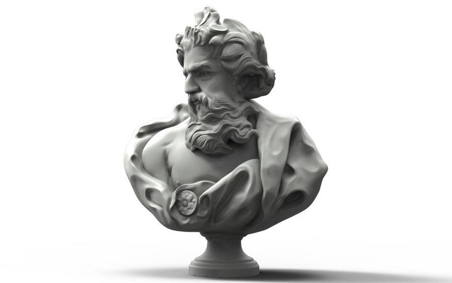 Зевс Отриколи royalty-free 3d model - Preview no. 1