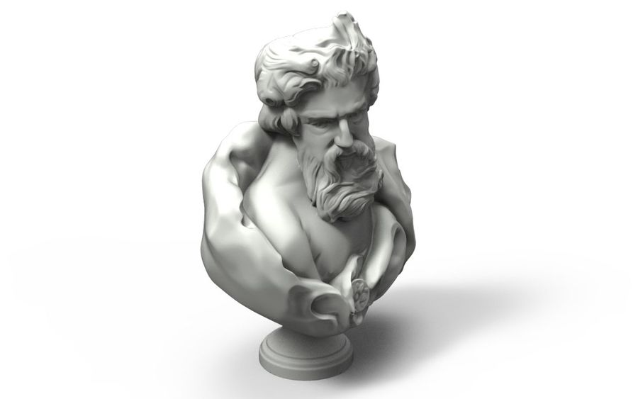 Зевс Отриколи royalty-free 3d model - Preview no. 5