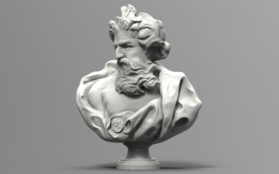 Зевс Отриколи royalty-free 3d model - Preview no. 6