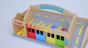 GaragesCar_03, Houten speelgoed 3d model