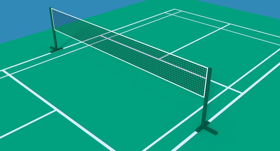 Sąd Badmintona royalty-free 3d model - Preview no. 5