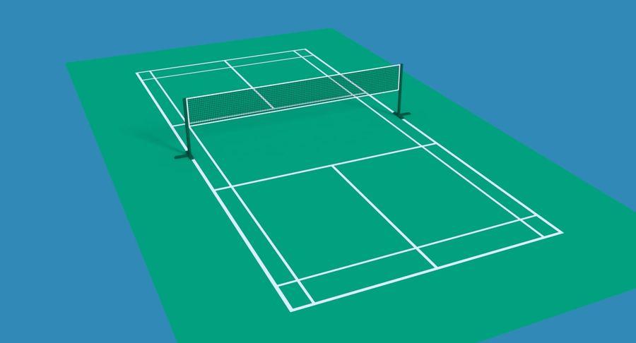 Terrain de badminton royalty-free 3d model - Preview no. 2