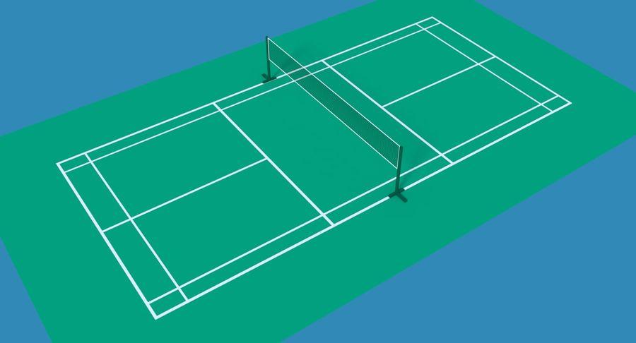 Sąd Badmintona royalty-free 3d model - Preview no. 4