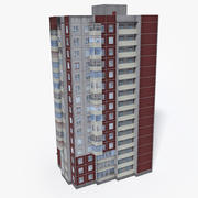 Budynek Europy Wschodniej Lowpoly 20 3d model