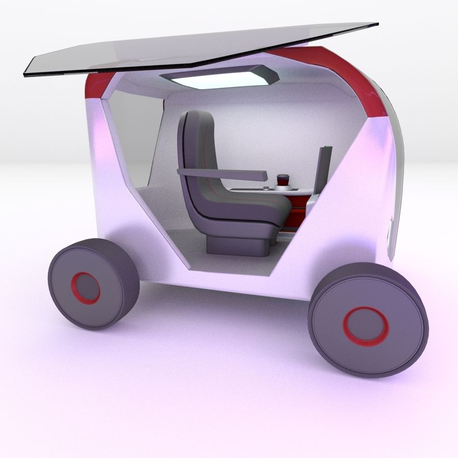 Concept styled single seater commuter royalty-free 3d model - Preview no. 2