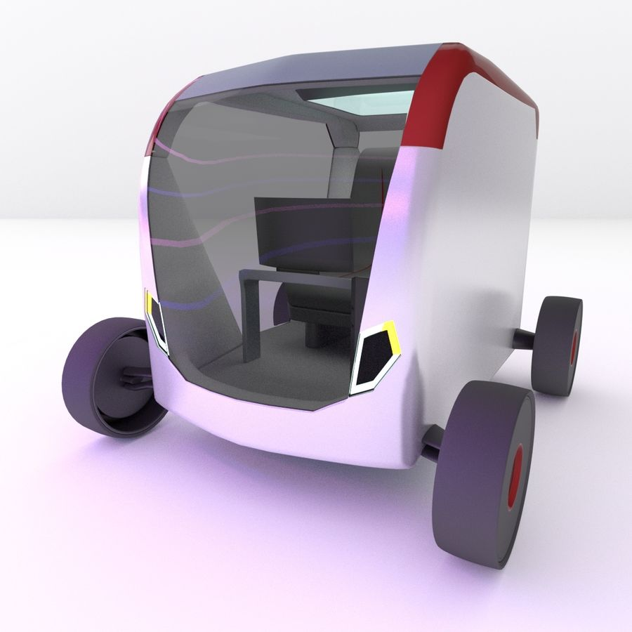 Concept styled single seater commuter royalty-free 3d model - Preview no. 6