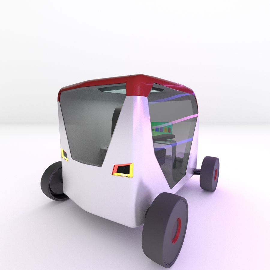 Concept styled single seater commuter royalty-free 3d model - Preview no. 4