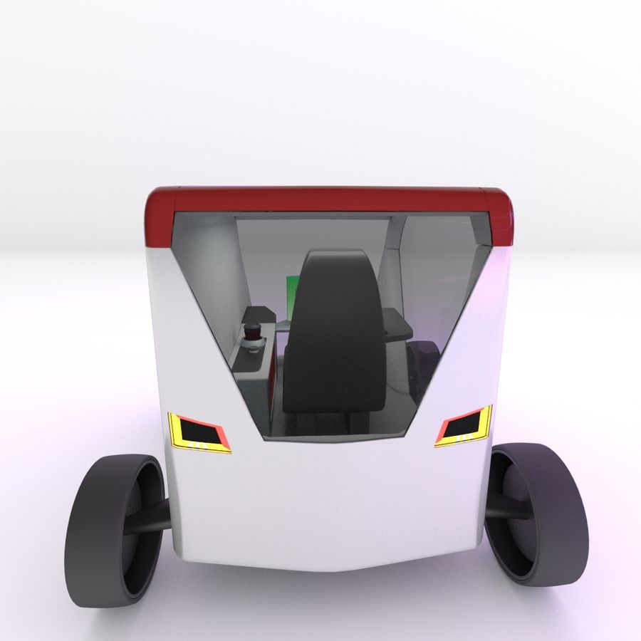 Concept styled single seater commuter royalty-free 3d model - Preview no. 5