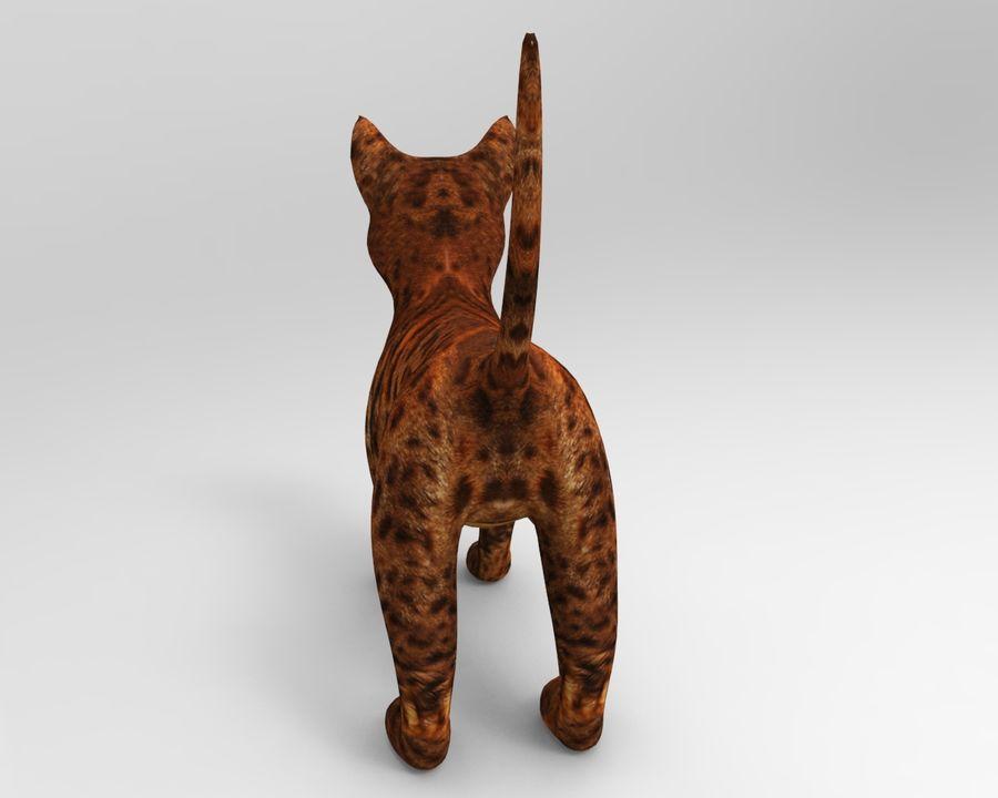 귀여운 고양이 모델 royalty-free 3d model - Preview no. 9