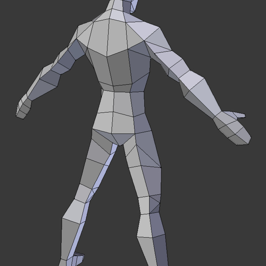 Low poly male model royalty-free 3d model - Preview no. 6
