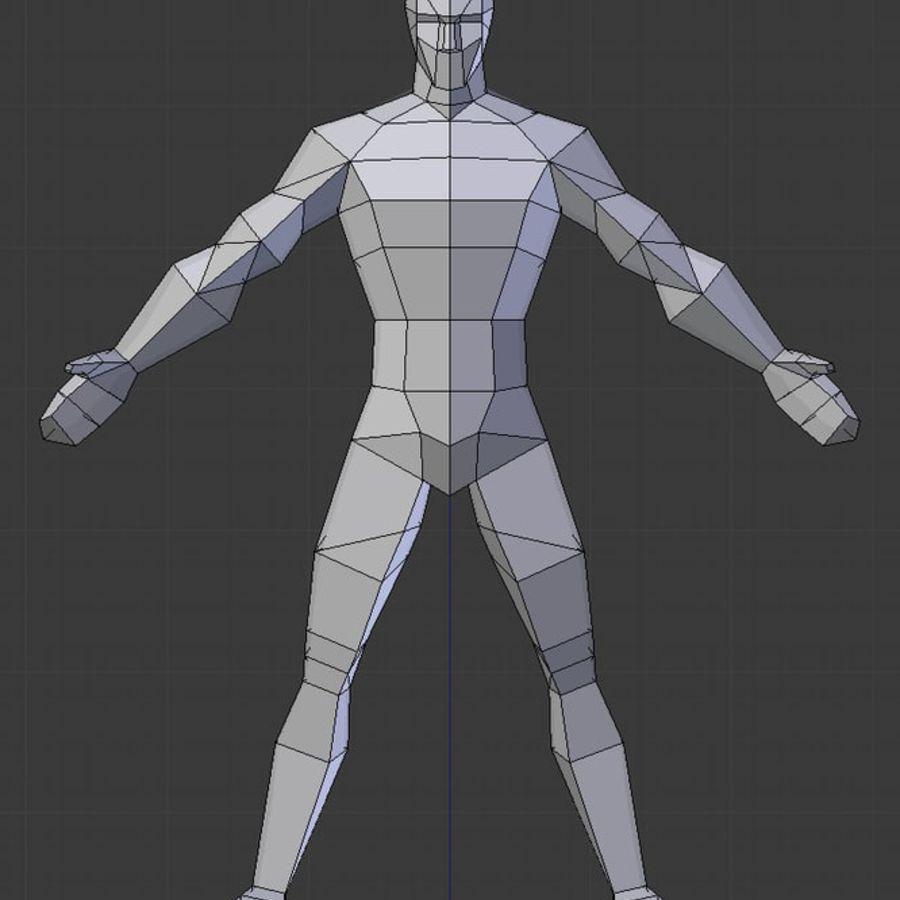 Низкополигональная мужская модель royalty-free 3d model - Preview no. 2