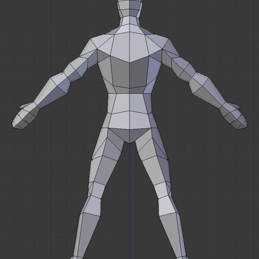 Низкополигональная мужская модель royalty-free 3d model - Preview no. 3
