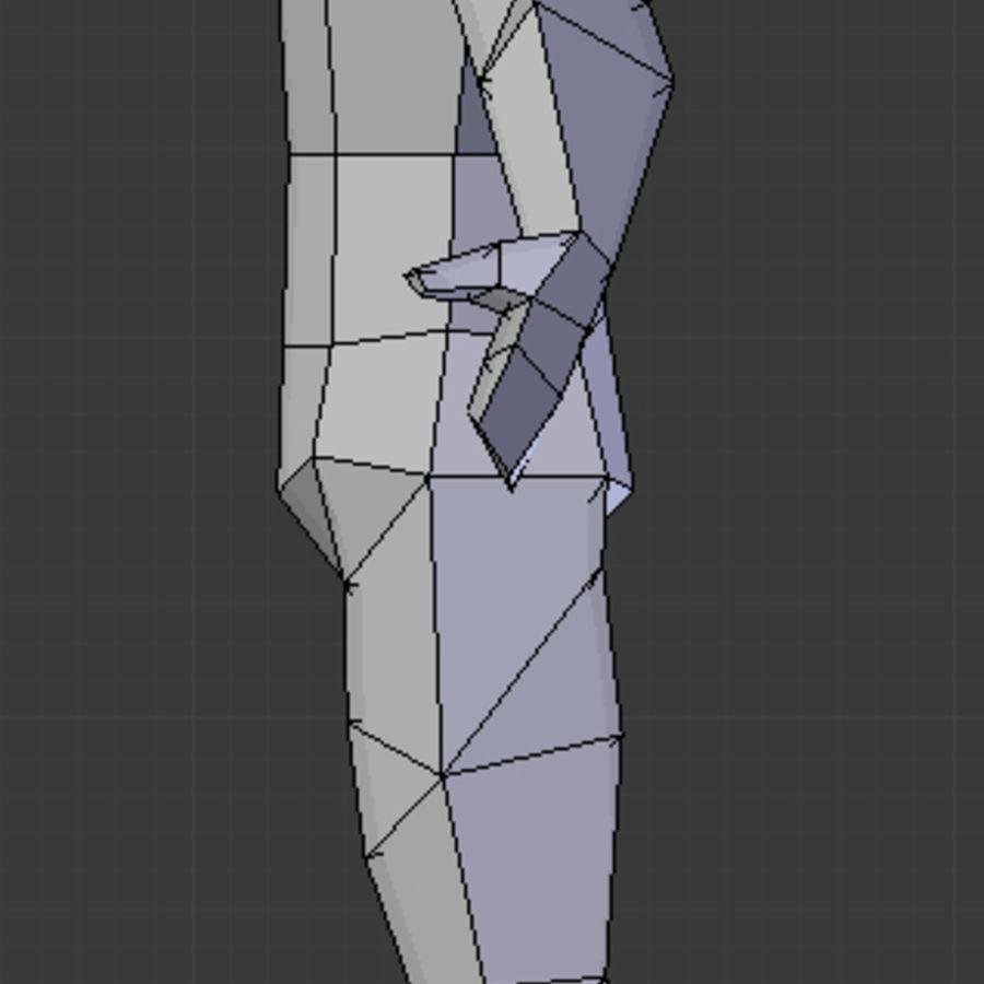 Низкополигональная мужская модель royalty-free 3d model - Preview no. 4