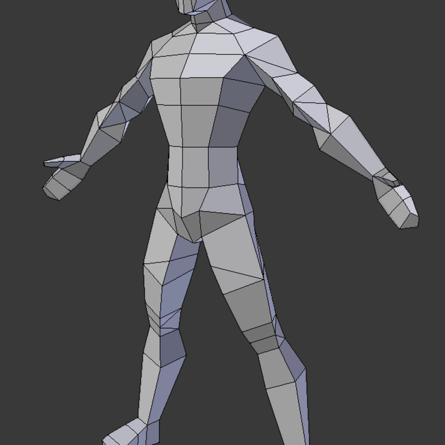 Low poly male model royalty-free 3d model - Preview no. 5