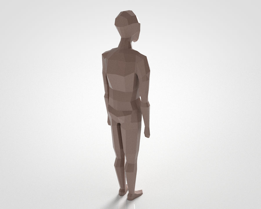 LowPoly basic character (Rigged) royalty-free 3d model - Preview no. 2