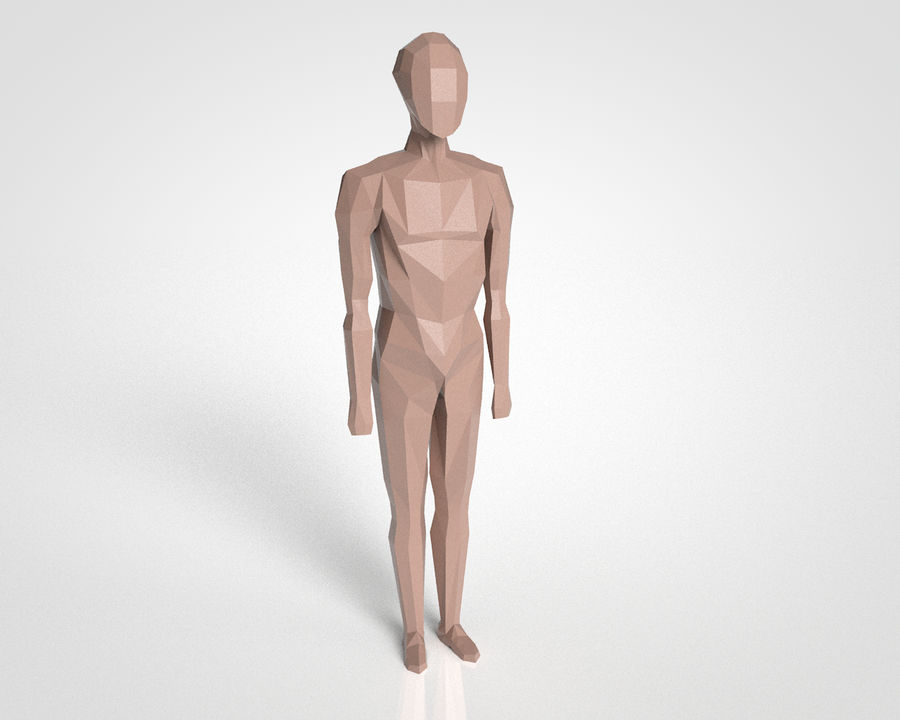 LowPoly basic character (Rigged) royalty-free 3d model - Preview no. 1