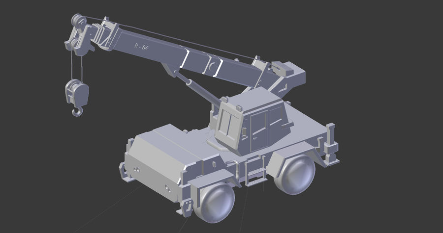 Crane royalty-free 3d model - Preview no. 9