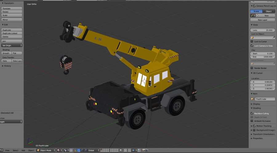 Crane royalty-free 3d model - Preview no. 8