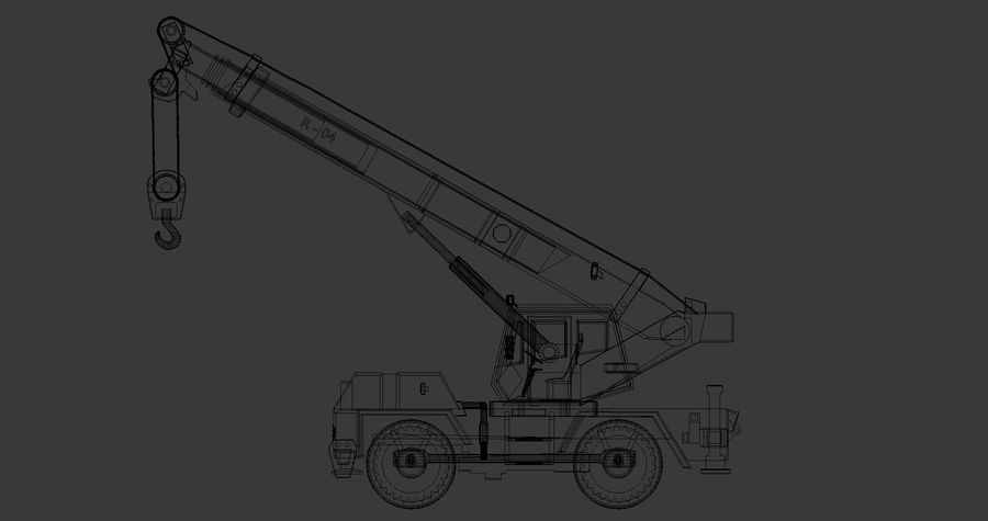 Crane royalty-free 3d model - Preview no. 10